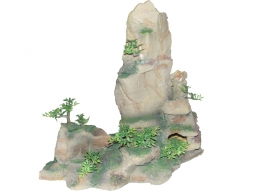 rock cave with plant, sandy, 35 cms - 8851