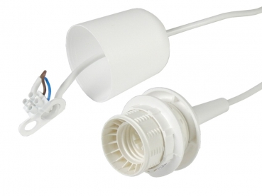 X-Bulb socket plastic E27 with a cap - white