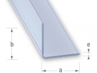 antstore ameisenshop ameisen kaufen profil l pvc transparent 30x30mm 1m. Black Bedroom Furniture Sets. Home Design Ideas